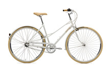 Creme Caferacer Solo Stadsfiets Dames 3-Speed wit